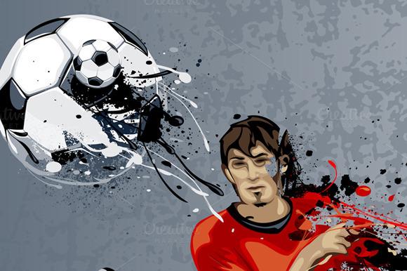 Graffiti Football Player