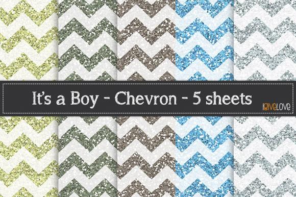 It S A Boy Chevron Glitter Pack