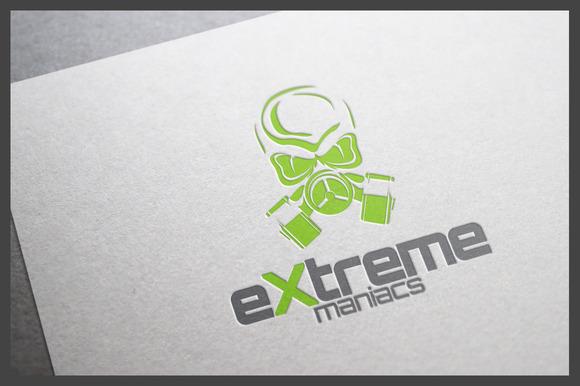 Extreme Maniacs Logo Template