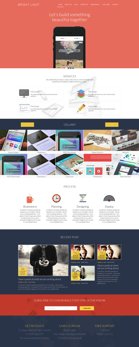 Bright Heaven Responsive Template