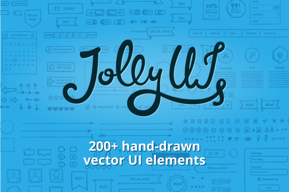 Jolly UI Kit Hand-drawn UI Elements