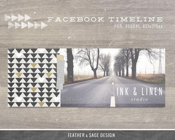Facebook Timeline Ink Linen