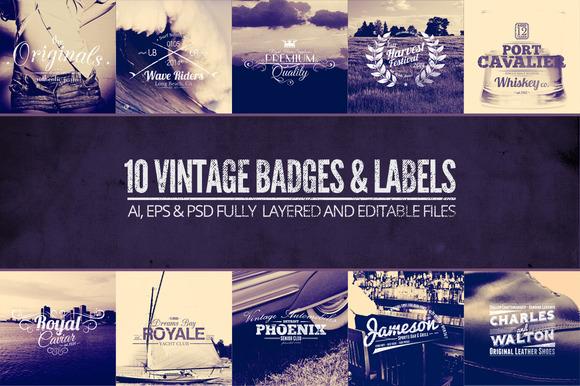 Vintage Labels Badges Vol.1