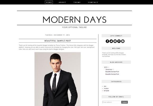Blogger Template Modern Days
