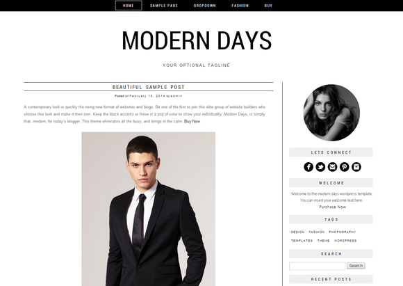 Wordpress Template Modern Days