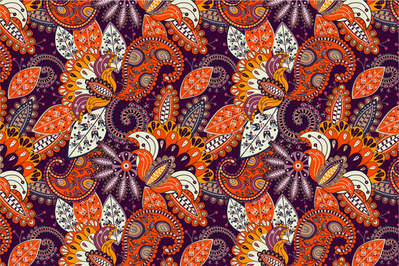 Seamless Pattern Sunny Flowers