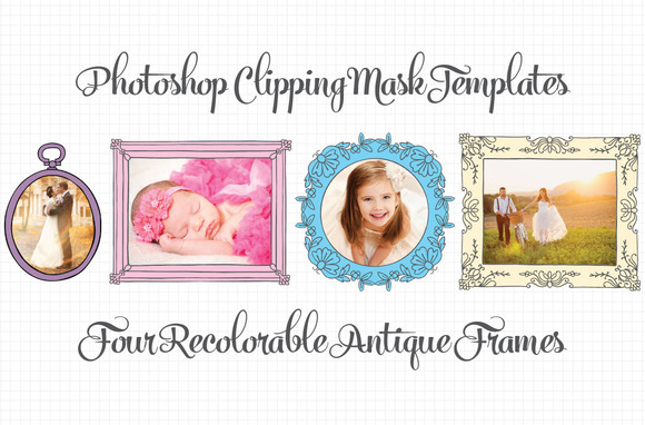 Antique Clipping Mask Frames