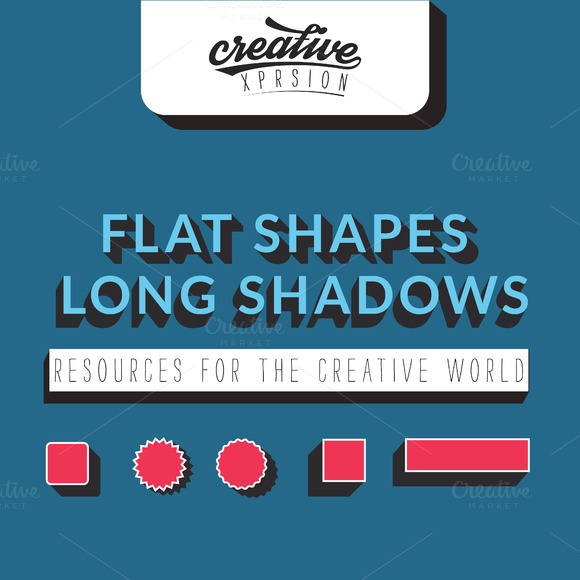 Flat Shapes Long Shadows Vol.1