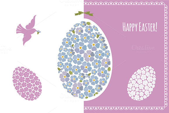 Easter Designs With Forget-me-nots