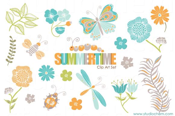 Summertime Pretty Clip Art Set
