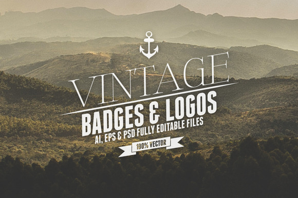 Vintage Badges Logos Vol.3