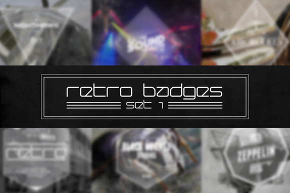 Retro Badges Set 1