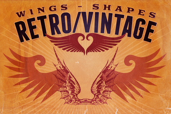 Retro Vintage Shapes Wings