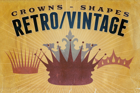 Retro Vintage Shapes Crowns