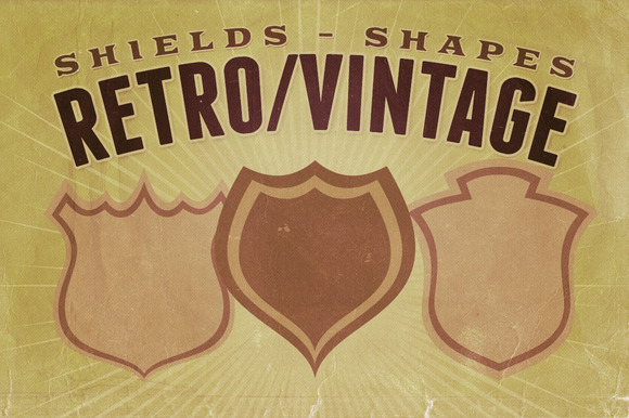 Retro Vintage Shapes Shields
