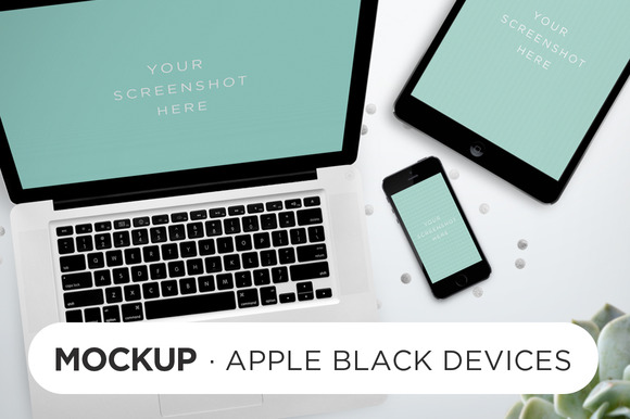 Black Devices Mockup