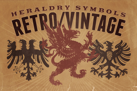 Vintage Shapes Heraldry Symbols