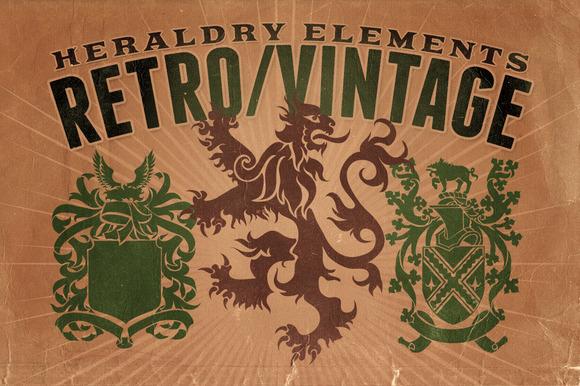 Vintage Shapes Heraldry Elements