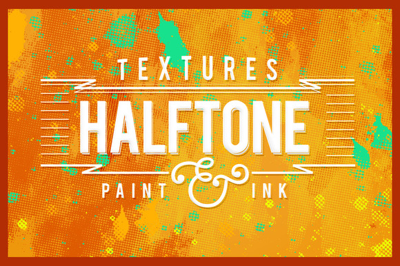 Halftone Paint Textures #2