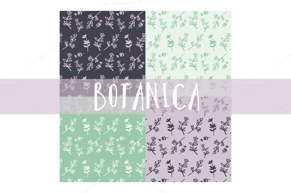 Botanica Handdrawn Floral Pattern