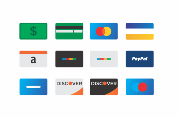 Modern Credit Card Icons
