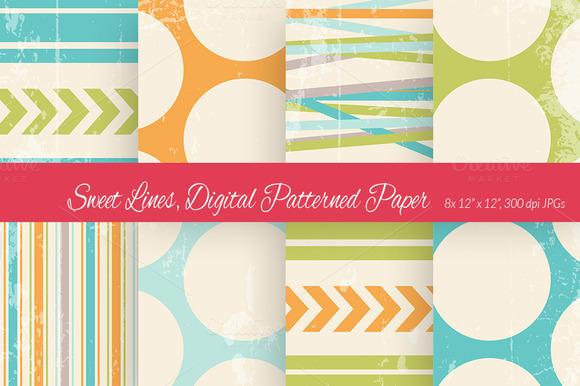 Sweet Lines Digital Paper Scheme 1