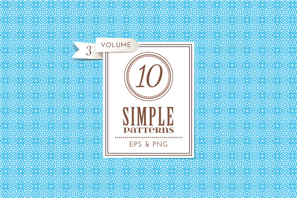 Set Of 10 Simple Patterns Vol 3
