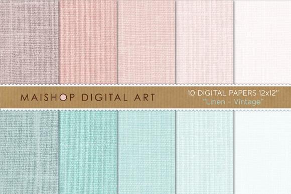 Digital Paper-Linen-Vintage
