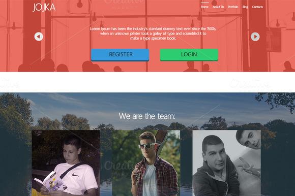Jojka Portfolio Web Design PSD