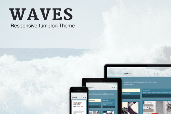 Waves Responsive Tumblog Theme