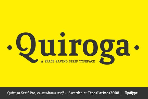 Quiroga Serif Pro