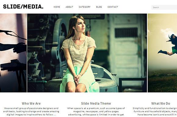 SlideMedia WordPress Theme Responsiv