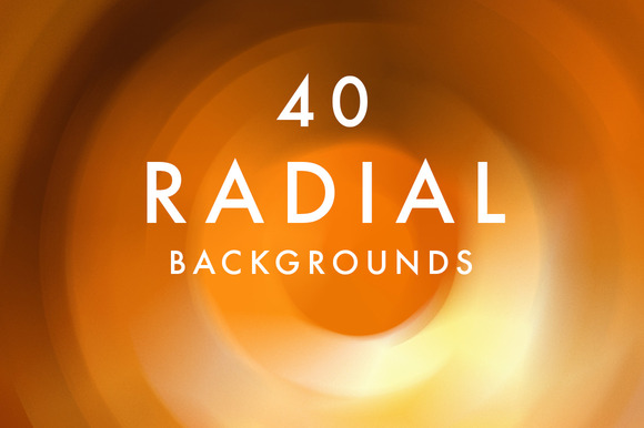 40 Radial Backgrounds