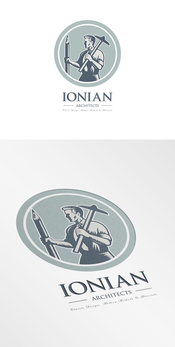 Ionian Architect Draftsman Logo