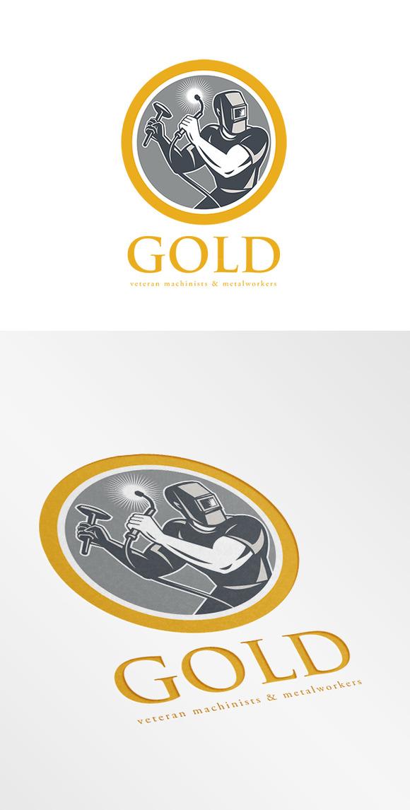Gold Veteran Machinist And Metalwork