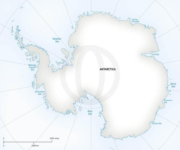 Vector Map Of Continent Antarctica