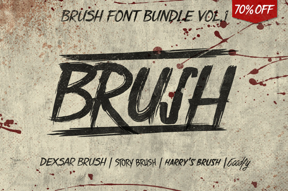 Brush Font Bundle 70% Off
