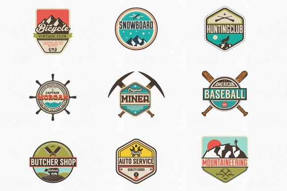 Vintage Style Badges And Labels