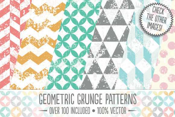 Geometric Grunge Patterns