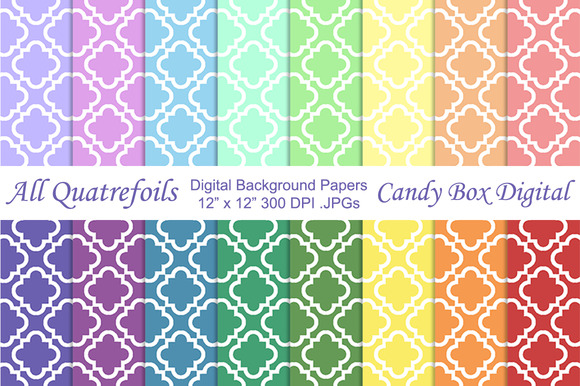 Quatrefoil Digital Background Papers