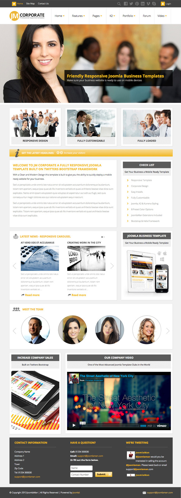 JM Corporate Responsive Joomla