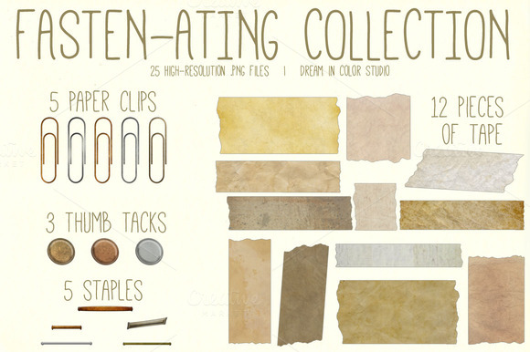 Fasten-ating Vintage Elements