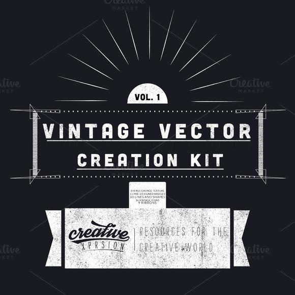 Vintage Vector Creation Kit