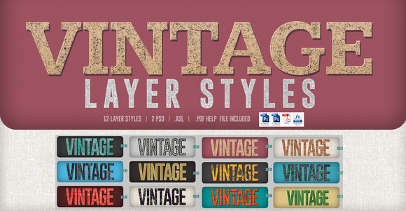 Vintage Text Layer Style