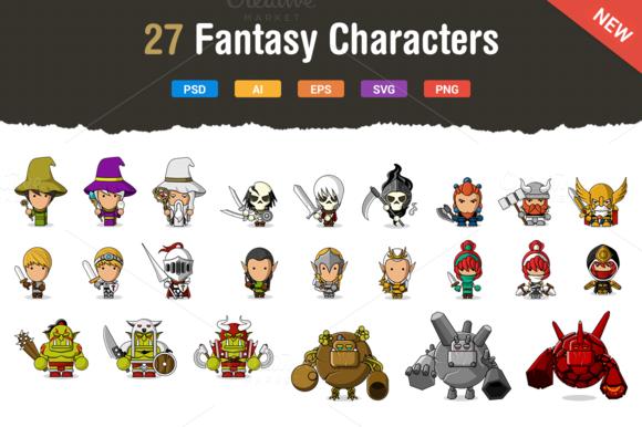 27 Fresh Fantasy Characters