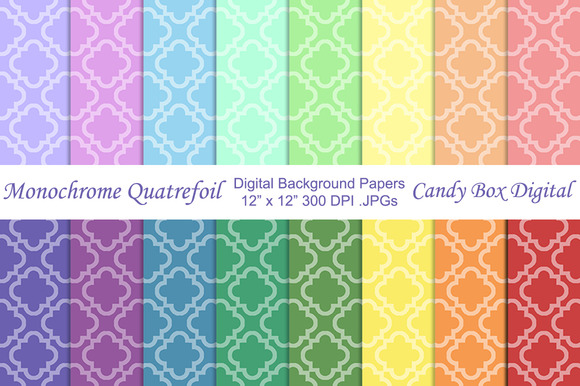 Monochrome Quatrefoil Backgrounds