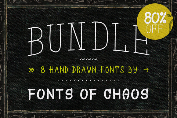 Hand Drawn Fonts Bundle 80% OFF
