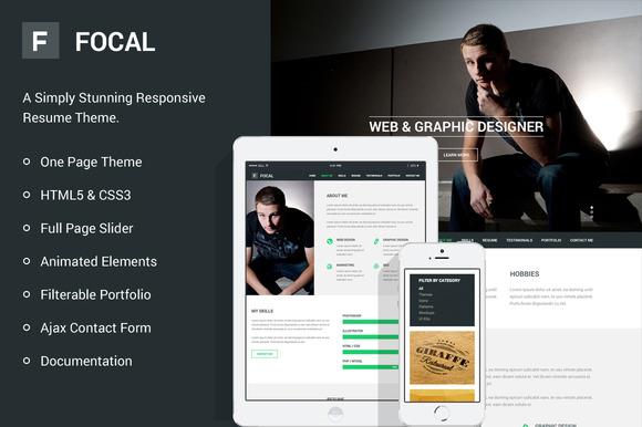 Focal Responsive Resume Theme