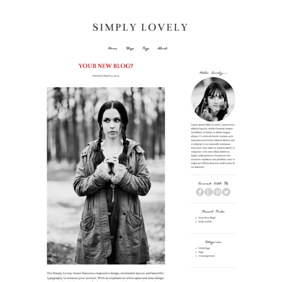 Simply Lovely Wordpress Responsive