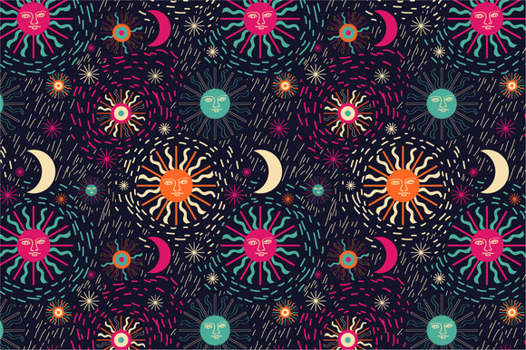 Pattern Sun And Stars
